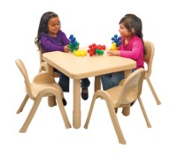 "My Value Sets - Preschool - 28"" Square Table & chairs table, chair, preschool, children church chair, classroom chair"