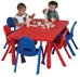 My Value Sets - Preschool - Rectangle Table & chairs (6) - AB705206
