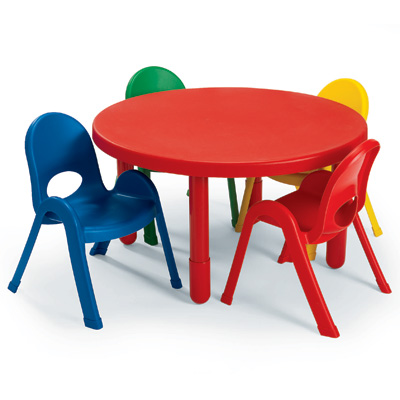 "My Value Sets - Preschool - 36"" Round Table & chairs  table, chair, preschool, children church chair, classroom chair"