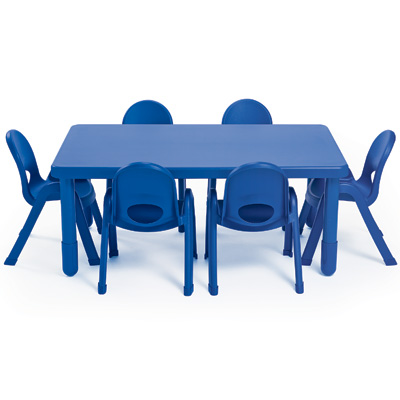 My Value Sets - Preschool - Rectangle Table & chairs (6) table, chair, preschool, children church chair, classroom chair