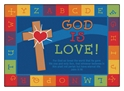 God is Love Learning Rug - Rectangle