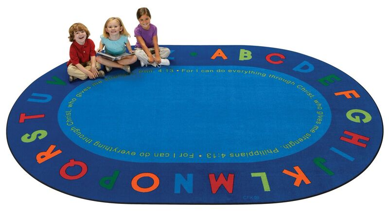 Philippians 4:13 Literacy Rug faith, philippians, rug, children carpet