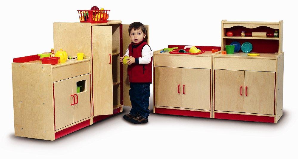 Whitney preschool kitchen complete set for Kids full kitchen set