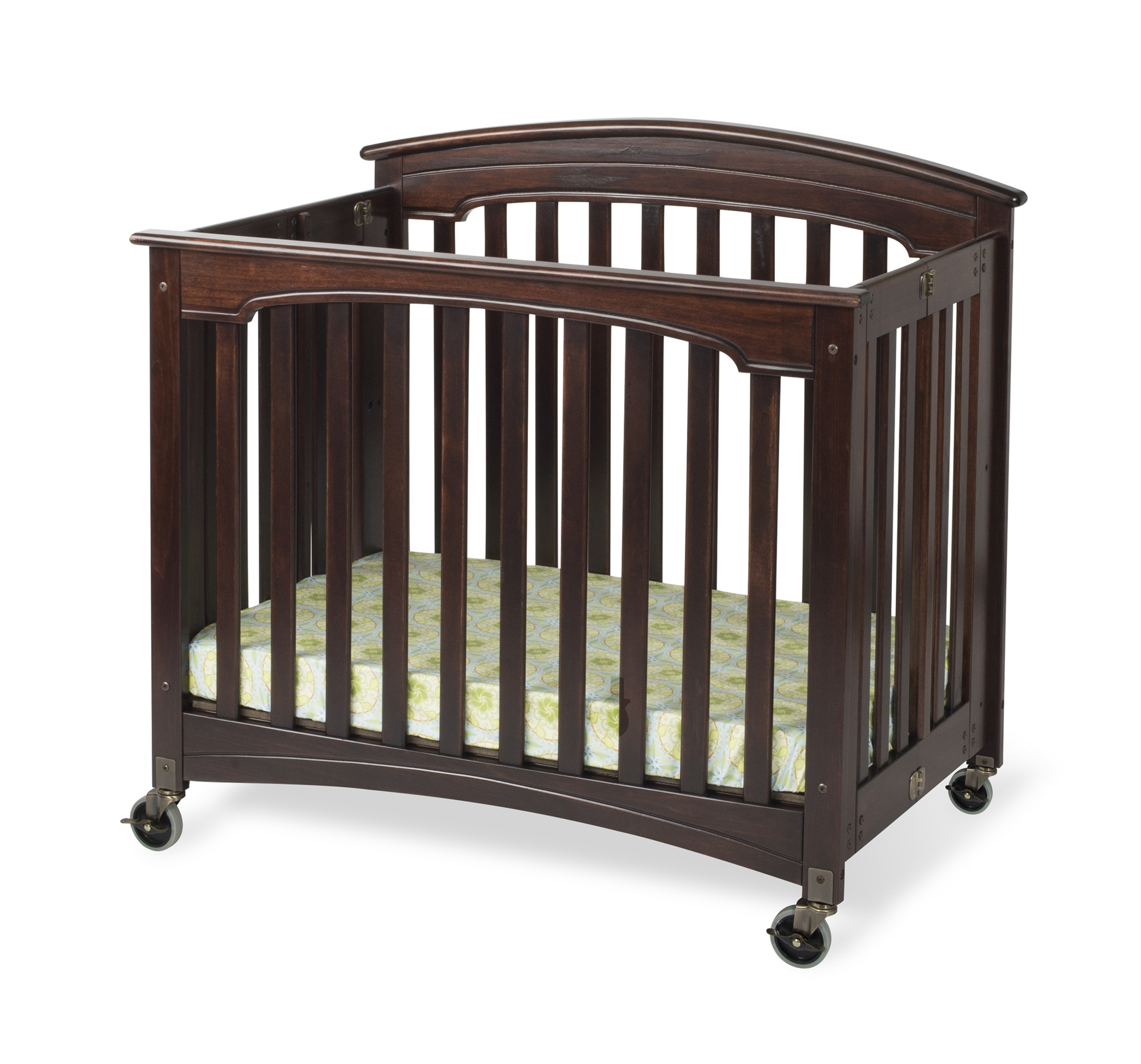 Royale - Solid Wood Folding Crib - NEW!!! Crib, Royale, Foundations, Wood, Slatted