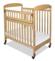 Serenity Compact SafeReach Crib with Mirror End Natural