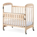 Next Generation Serenity Compact SafeReach Crib with Clearview End Natural