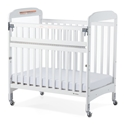 Next Generation Serenity Compact SafeReach Crib with Clearview End - White