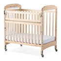 Next Generation Serenity Compact SafeReach Crib with Mirror End Natural