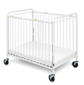 "Chelsea Clearview Steel Crib  - 4"" Casters Foundations, 2032097 - Chelsea, steel, metal crib, evacuation"