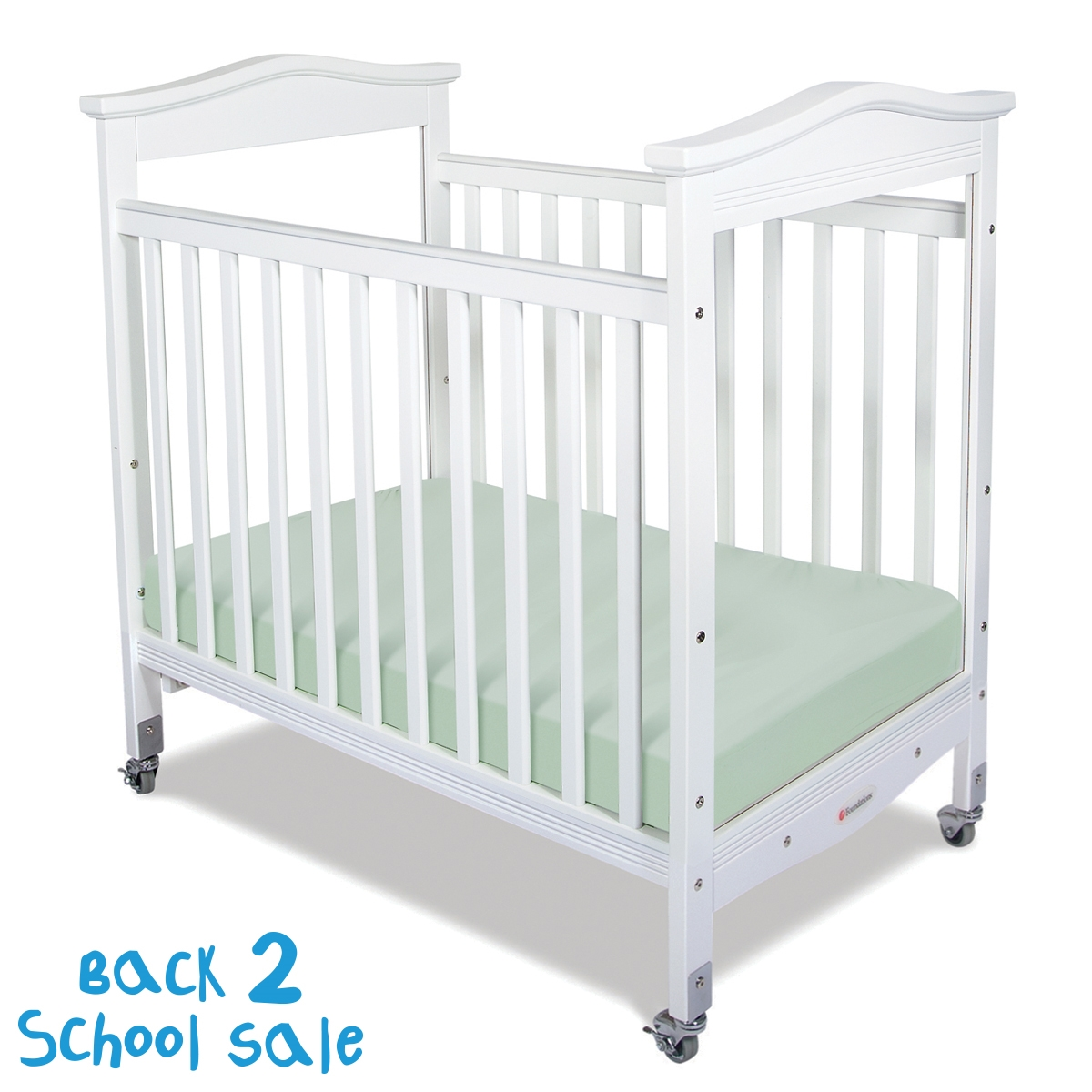 Biltmore Compact Fixed Side Crib, Clearview, White