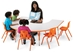 Rainbow Accents KYDZ Activity Table  -  Horseshoe - 6445JC - 6445JC RBluematchPebble GrayToddler